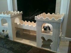 how to make a cardboard bunny castle
