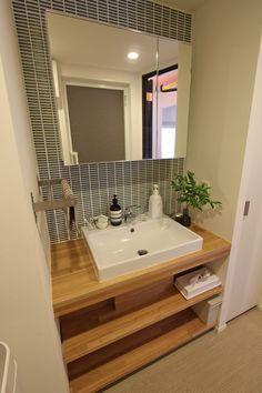Home decored apartment bathroom kitchens 34 ideas Laundry In Bathroom, Small Bathroom, Washroom, Muji Home, Japanese Interior, Home Upgrades, Trendy Home, House Rooms, Bathroom Interior