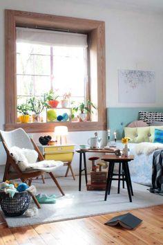 Toujours l'association des couleurs que j'aime  et une tête de lit turquoise