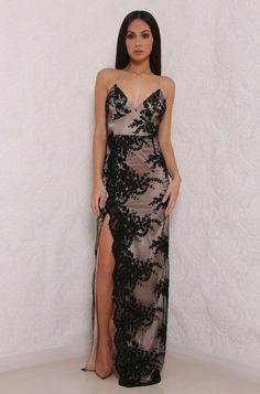 ABYSS BY ABBY CYRUS GOWN  Delicate lace Scalloped lace edge Zip fastening at the back Gold lining under lace Model is wearing size XS an is 5'7, Worldwide shipping available Designed and Made in Australia