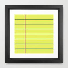 bilješka Framed Art Print by trebam - $30.00