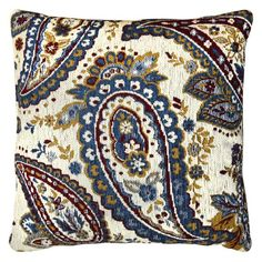 Laura Hill for Home Dynamix Paisley Chenille Decorative Pillow - CH801-309