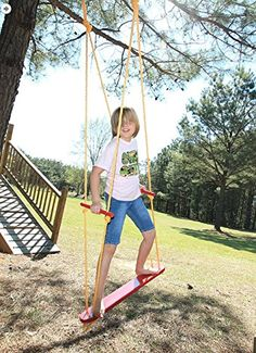 Wind Surfer Skateboard Rope Tree Swing with Wooden Seat Porch and Garden Swing with Weight Capacity of 300 Lbs Made in USA Ecommersify Inc http://www.amazon.com/dp/B00NF8Y5GO/ref=cm_sw_r_pi_dp_hjkcvb0WX8G25