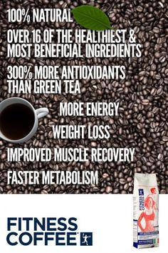 Italian Innovative Fitness Coffee. www.fitnesscoffee.com