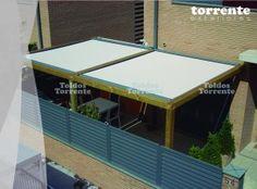 Pergola madera con toldo veranda by Toldos Torrente