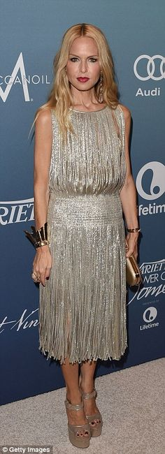 Rosie Huntington-Whiteley shows off her decolletage in fetching dress Stunningly Beautiful, Beautiful Gowns, Celebrity Dresses, Celebrity Style, The Rachel Zoe Project, Cute Dresses, Cute Outfits, Silver Cocktail Dress, Rosie Huntington Whiteley