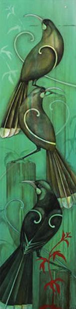 Entwined - by Kathryn Furniss Available from Image Vault Ltd Art Maori, New Zealand Art, Jr Art, Kiwiana, Natural Forms, Nativity, Art Ideas, Birds, Drawings