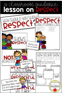 A classroom guidance lesson on the character trait of respect. Teaching Character, Character Education, Character Trait, Physical Education, Character Counts, Character Development, Respect Lessons, Guidance Lessons, Bible Lessons