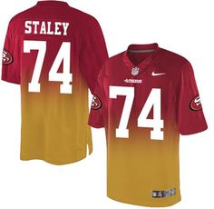 Nike #49ers #74 #Joe #Staley Red Gold Men's Stitched #NFL Elite Fadeaway Fashion Jersey #nfl #football #nationalfootballleague #pats
