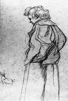 Henri De Toulouse-Lautrec | Henri de Toulouse-Lautrec - Madame Palmyre aveuc sin kien, (1897)
