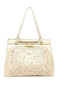 93ac0f6271 Valentino Flower Cut Beaded Handbag