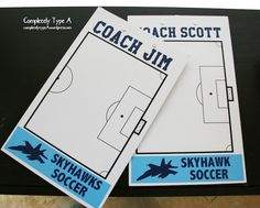 Gift for soccer coaches- personalized dry erase clipboard