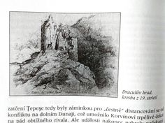 Fortress of Vlad Ţepeş, 19th century drawing.