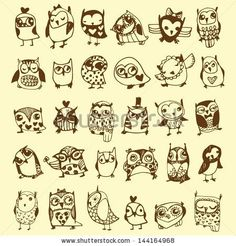 Little Owls Tattoos Owl Drawing Cute Little