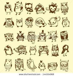 Little Owls Tattoos Owl Drawing Cute Little