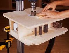 31-dp-00699 - Drill Press Drum Sanding Table Downloadable Woodworking Plan PDF…