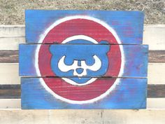 Chicago Cubs Pallet Sign by MallettsPalletts on Etsy, $40.00