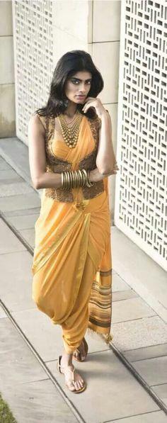 Tarun Tahiliani dhoti saree