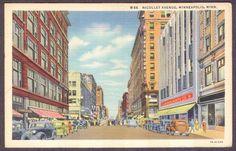 Minneapolis-MN-Nicollet Ave-Linen Postcard | eBay
