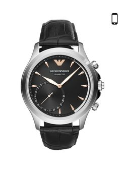 Emporio Armani Connected Hybrid Smartwatch - Men Wrist Watch on YOOX. The best online selection of Wrist Watches Emporio Armani Connected. Fossil Watches For Men, Mens Watches For Sale, Big Watches, Best Watches For Men, Sport Watches, Cool Watches, Smartwatch, Emporio Armani Mens Watches, Armani Exchange