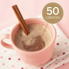 Calcium-Added Warming Cocoa        Swiss Miss Fat-Free Hot Cocoa with Calcium        The antioxidant level in cocoa is even higher than in red wine. Plus, one mug provides as much calcium as a glass of milk. Add a cinnamon stir stick for no additional calories.        Nutrition facts for one mug: 50 calories, 0 g fat, 0 mg cholesterol, 180 mg sodium