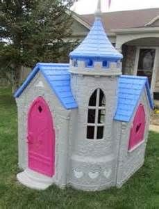 Castle Playhouse This playhouse 22 28 29 4 NEW CASTLE 5 Built entirely with pressure treated lumber for my grandson s birthday 27 1636 likes 16 talking Princess Playhouse, Castle Playhouse, Playhouse Outdoor, Princess Castle, Disney Princess, Princess Toys, Playhouse Ideas, Toddler Toys, Kids Toys