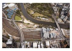 Federation Square East - Aerial shot of the site - image by Peter Glenane Mixed Use Development, Central Business District, Uni, Melbourne, City, World, Image, Cities, The World