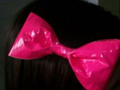Bow made of tape