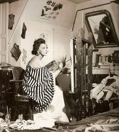 SURREALIST WOMEN IN THEIR STUDIOS :Leonor Fini