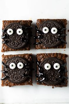 Nutella Spider Brownies | A Taste of Madness Halloween Cupcakes, Halloween Candy, Spirit Halloween, Halloween 2020, Brownie Recipes, Chocolate Recipes, Dessert Recipes, Bar Recipes, Dessert Bars