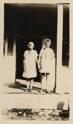 Kids creepy vintage Halloween costumes.