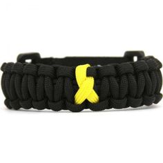 $12.99 Yellow Ribbon Paracord Bracelet. Show your support for people and causes close to your heart. The yellow ribbon symbolizes Soldier & troop support, Bone cancer awareness and suicide prevention. http://cobrabraid.com/paracord-bracelets/causes-paracord-bracelets/yellow-ribbon-paracord/yellow-ribbon-paracord-bracelet