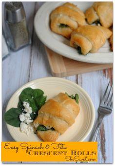 Feta Spinach Crescent Rolls