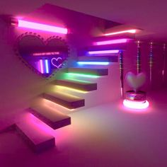 Image in dream rooms/houses collection by xmadlyxinlove Girl Bedroom Designs, Room Ideas Bedroom, Bedroom Decor, Neon Bedroom, Kids Bedroom Furniture, Furniture Plans, Cute Room Ideas, Cute Room Decor, Neon Room Decor