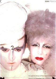 Steve Strange and Pinkietessa for Donna magazine, 1981 ca. Leigh Bowery, Blitz Kids, Stranger Things Steve, Tears For Fears, New Romantics, Culture Club, Club Kids, Boy George, Nostalgia