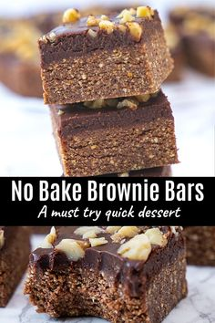 No Bake brownies will become your new favorite. They are easy to make, oh so delicious chocolatey and have the perfect chewy, fudgy texture. It requires just 15 minutes and 8 ingredients. Egg Allergy, Eggless Baking, No Bake Brownies, Egg Free, Brownie Recipes, Spice Things Up, Baking Recipes, Waffles, Muffins