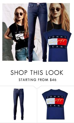 """""""Untitled #791"""" by sara-button ❤ liked on Polyvore featuring Tommy Hilfiger"""