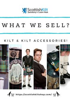 From casual to formal wear, we have kilts & all other kilt accessories priced for any budget you demand for! #whatwesell #sellandbuy #sell #buy #scottishkilt #kiltaccessories #kiltforsale #kilt #traditionaltartankilt #kilts #pinterestinspired #pinterestwin #pinterestideas #pinterestwedding #pinterestfashion #fashion #womensfashion #timelessfashion #fashionformen