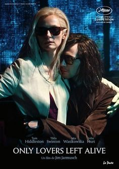 ONLY LOVERS LEFT ALIVE - Tilda and Tom! He looks a bit like Gary Oldman here.