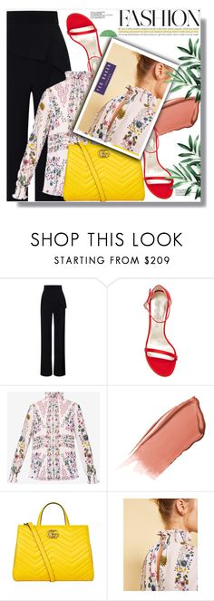 """""""Stay Young, Stay Fashionable"""" by xwafflecakezx ❤ liked on Polyvore featuring Roland Mouret, Stuart Weitzman, Ted Baker, Hourglass Cosmetics and Gucci"""
