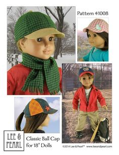 (9) Name: 'Sewing : L&P 1008 - 18' Doll Ball & Trucker Caps