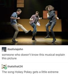 Is this DEH? I can't tell lol<< yea it totally is dear Evan Hansen. Three guys, two with short and one long haired this screams DEH