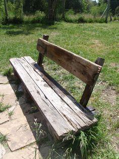 banco hecho con maderas recuperadas