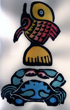 Walter Anderson. Crab and Fish.