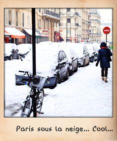 Paris sous la neige. Ville magnifique et magique