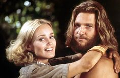 Jeff Bridges and Jessica Lange in King Kong (1976)