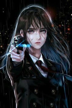 Cool Anime Girl, Beautiful Anime Girl, Kawaii Anime Girl, Anime Art Girl, Chica Anime Manga, Manga Girl, Dibujos Tumblr A Color, Anime Love Story, Anime Flower