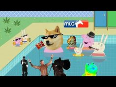 MLG Peppa pig goes to the swimming pool - YouTube