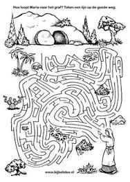 paasdoolhof   kleuplaat    puzzel    doolhof over pasen