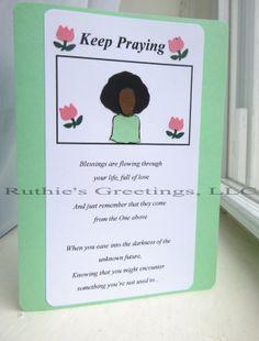 """""""Keep Praying"""" card"""
